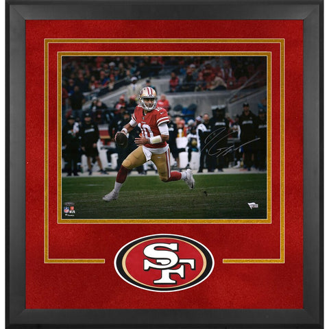 Jimmy Garoppolo San Francisco 49ers Deluxe Framed Autographed 16x20 Rollout Photograph