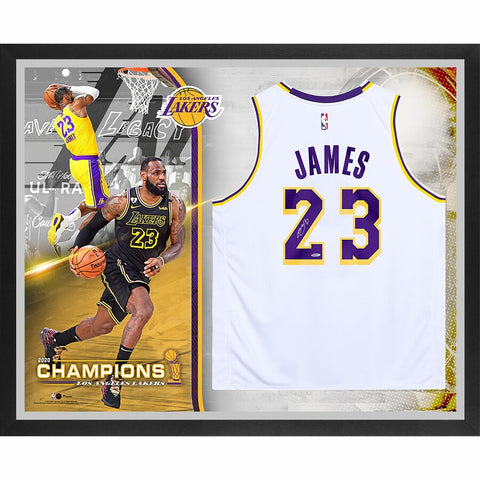 LeBron James Los Angeles Lakers Framed Autographed White Nike Authentic 2020 NBA Finals Champions Jersey Collage - Limited Edition of 23