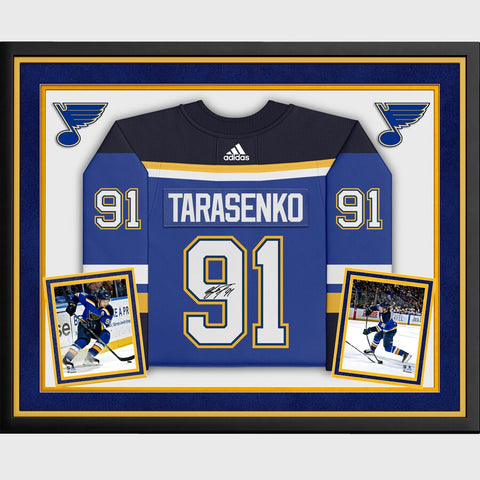 Vladimir Tarasenko St. Louis Blues Deluxe Framed Autographed Blue Adidas Authentic Jersey