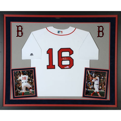 Andrew Benintendi Boston Red Sox Deluxe Framed Autographed Majestic White Authentic Jersey