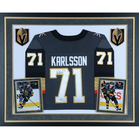 William Karlsson Vegas Golden Knights Deluxe Framed Autographed Black Fanatics Breakaway Jersey