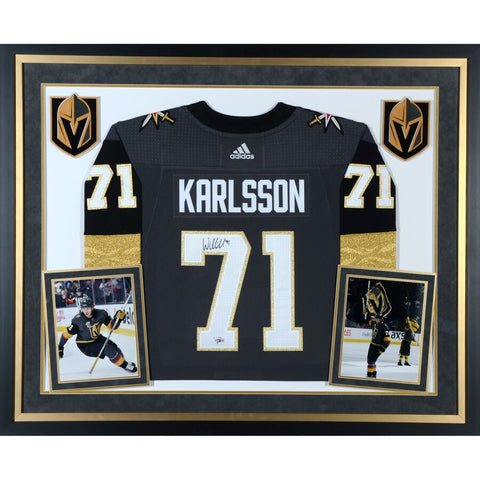 William Karlsson Vegas Golden Knights Deluxe Framed Autographed Black Adidas Authentic Jersey