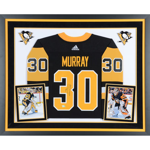 Matt Murray Pittsburgh Penguins Deluxe Framed Autographed Black Adidas Authentic Jersey