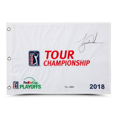 Tiger Woods Autographed 2018 Tour Championship Pin Flag