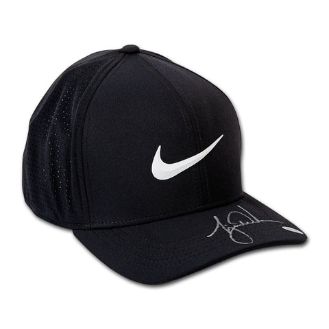 Tiger Woods Autographed Nike AeroBill Black Golf Cap