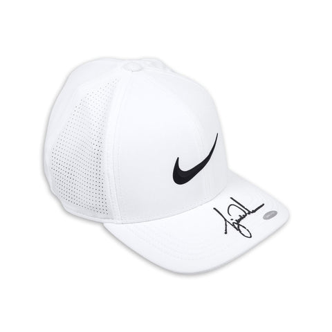 Tiger Woods Autographed Nike AeroBill White Golf Cap