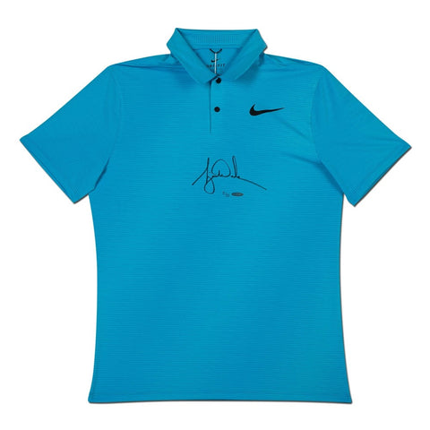 Tiger Woods Autographed Nike Blue Fury Polo