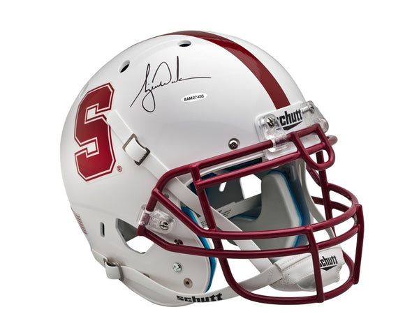 Tiger Woods Autographed White Stanford Authentic Helmet
