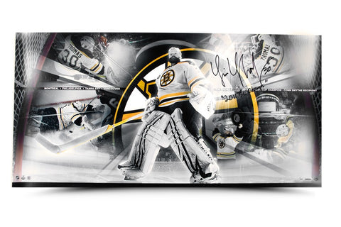 Tim Thomas Signed & Inscribed Playoff Run Panoramic Limited Edition Collage 36 x 18