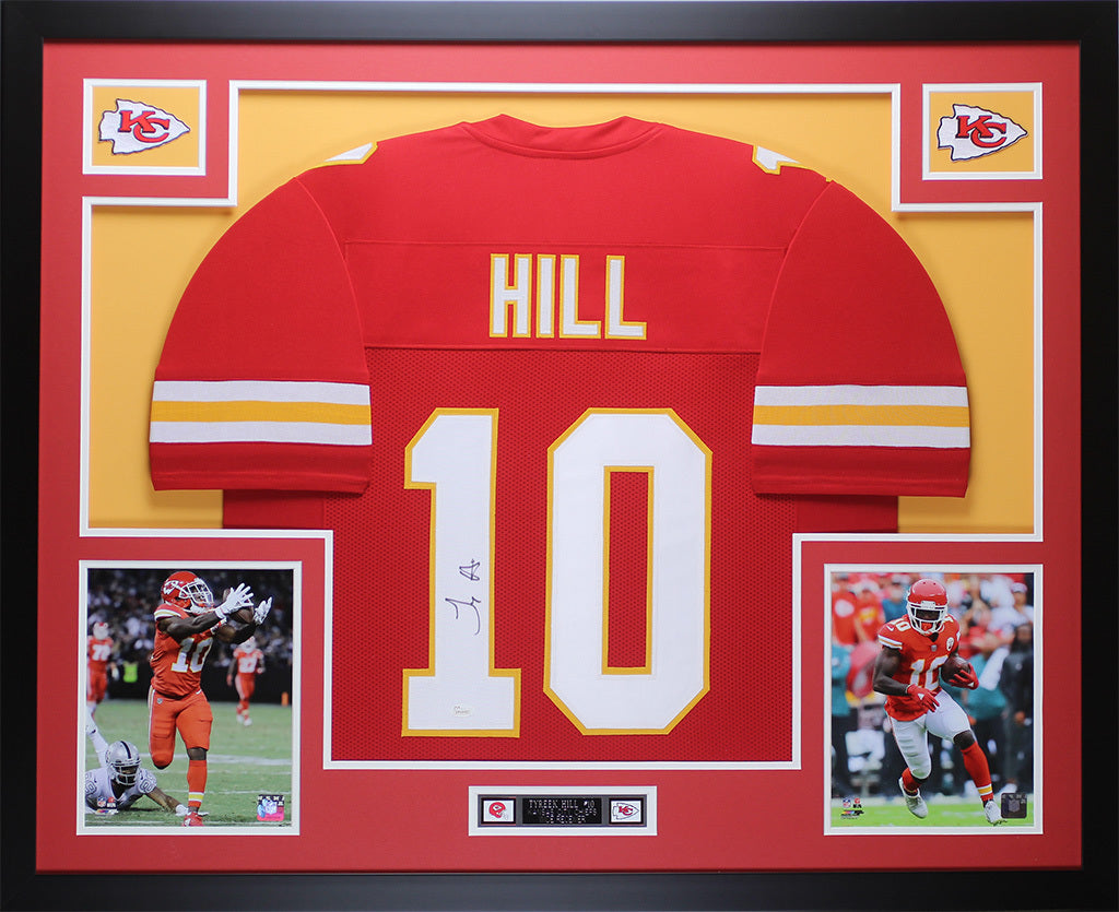 Tyreek Hill Autographed   Framed Red Kansas City Chiefs Auto JSA COA D –  Super Sports Center f731a5230