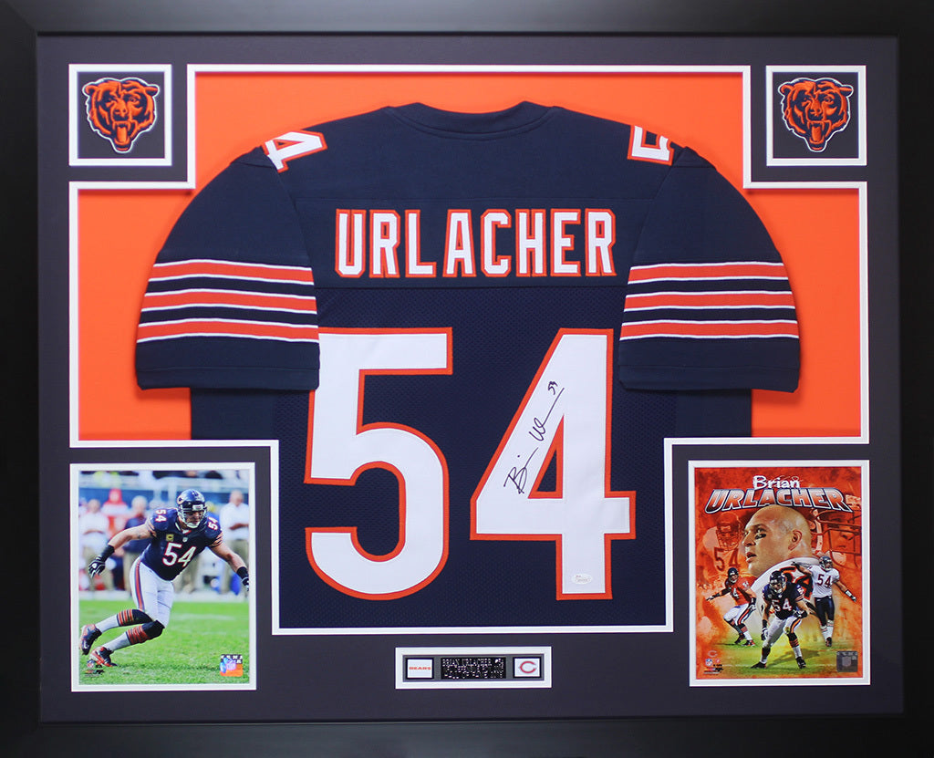 the best attitude 768ab 73426 Brian Urlacher Autographed and Framed Navy Blue Bears Jersey Auto JSA COA  D5-L