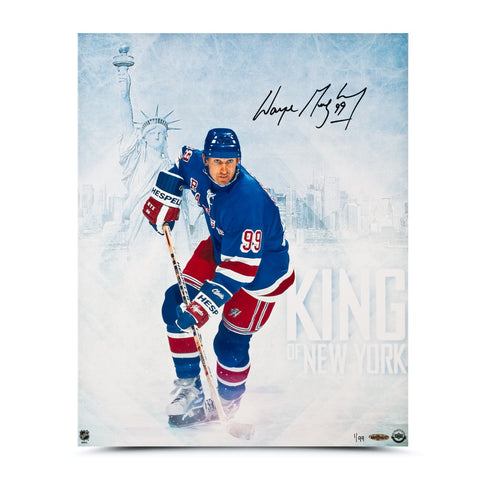 Wayne Gretzky Autographed King of New York 16 x 20