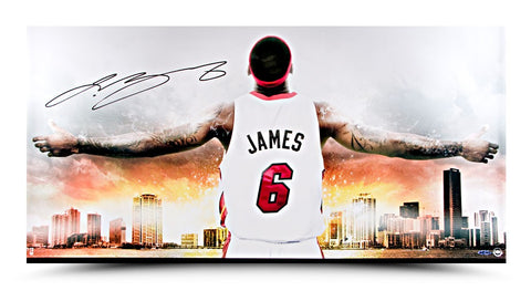 LeBron James Autographed Witness Miami II Photo