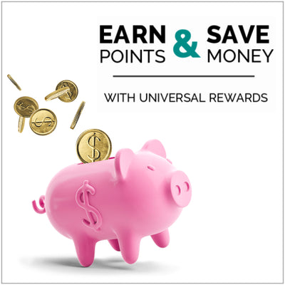 Earn upto 15% back with the Universal Rewards loyalty program