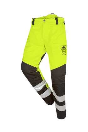 SIP Protection BasePro HV Chainsaw Pants Hi-Vis Yellow/Black