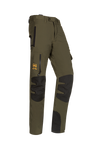 SIP Protection Arborist Chainsaw Pants Khaki Green/Black