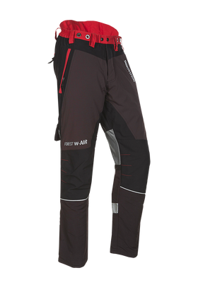 SIP Protection Forest W-AIR Chainsaw Pants Grey/Red
