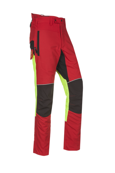 SIP Protection  Samourai Chainsaw Pants Red/Hi-Vis Yellow/Black