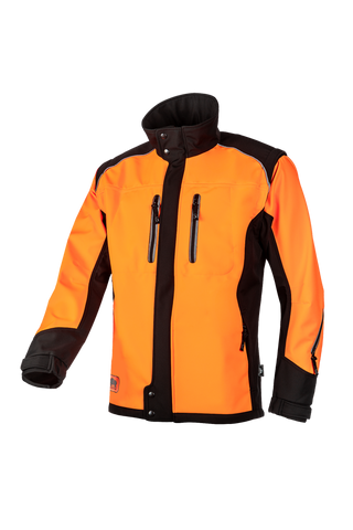 SIP Protection Fuyu Softshell Jacket Hi-Vis Orange/Black
