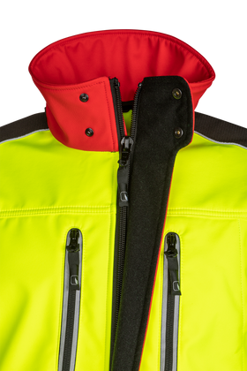 SIP Protection Fuyu Softshell Jacket Hi-Vis Yellow/Red