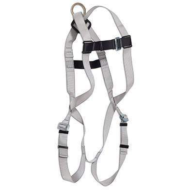 View of grey harness, with back d-ring