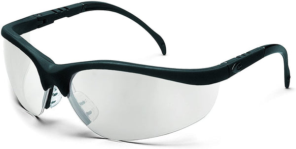 Glasses, Crews Klondike safety, black frame, indoor/outdoor lens