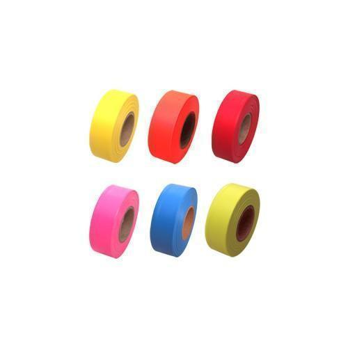 Six rolls of tape, in various colours