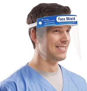 Anti Fog, Anti Static Wrap Around Face Shield