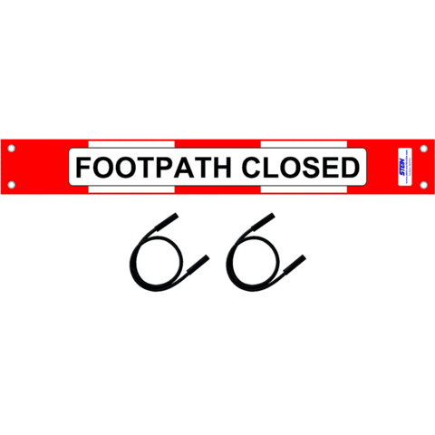 Footpath Closed Sign Kit