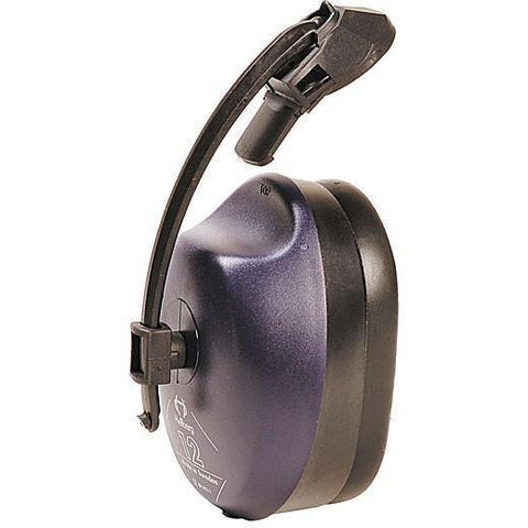 A Single Cap Mounted Earmuff