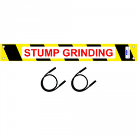 Stump Grinding Sign  Kit for  STEIN Modular Guarding System