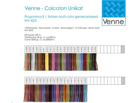 22/2 Mercerized Cotton Space Dyed Sample Card