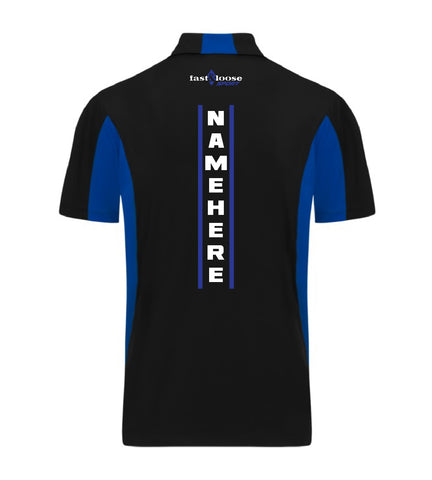 fast&loose SPORT (Side Blocked Polo) - Black / Blue Version 1