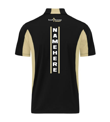 fast&loose SPORT (Side Blocked Polo) - Black / Gold Version 1