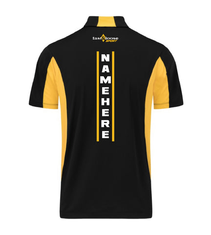 fast&loose SPORT (Side Blocked Polo) - Black / Yellow Version 1
