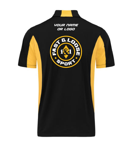 fast&loose SPORT (Side Blocked Polo) - Black / Yellow Version 2