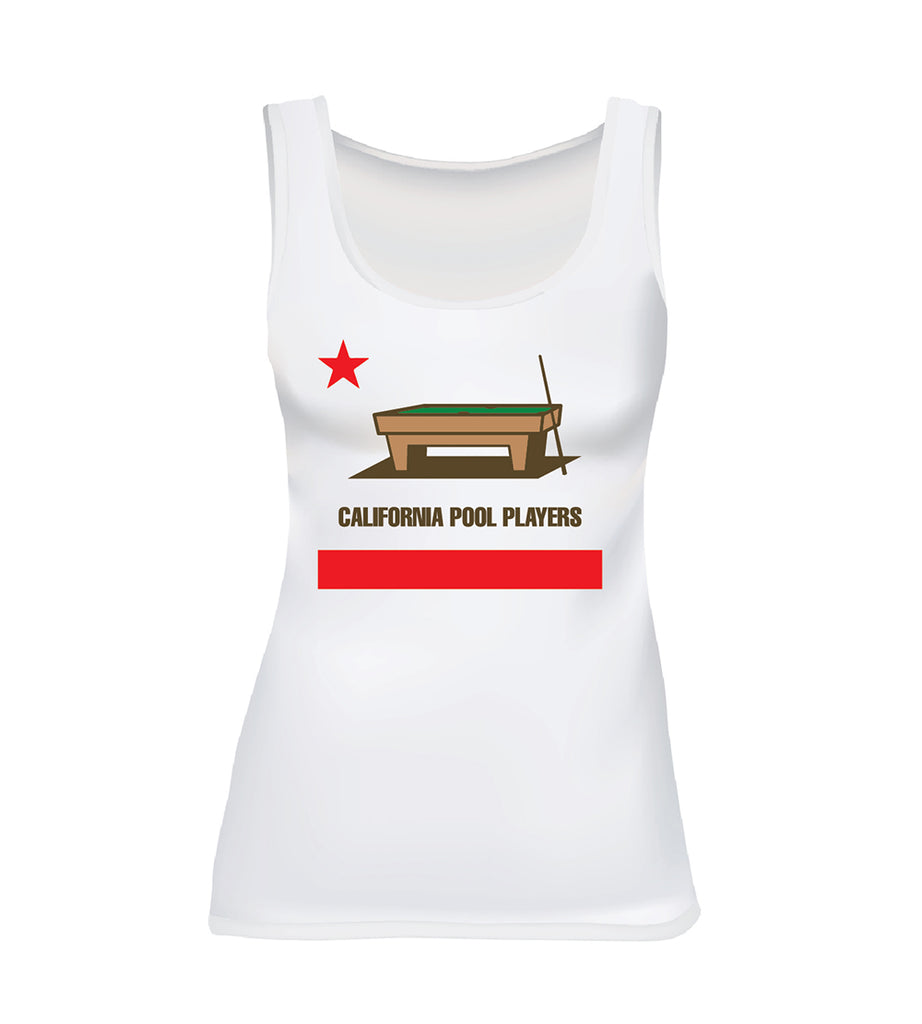 5e0fec4858b93 CALIFORNIA POOL PLAYERS (Women s Tank) - White – fast loose designs