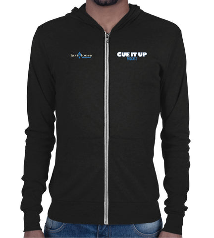 CUE IT UP (Zip Hoodie) - Black