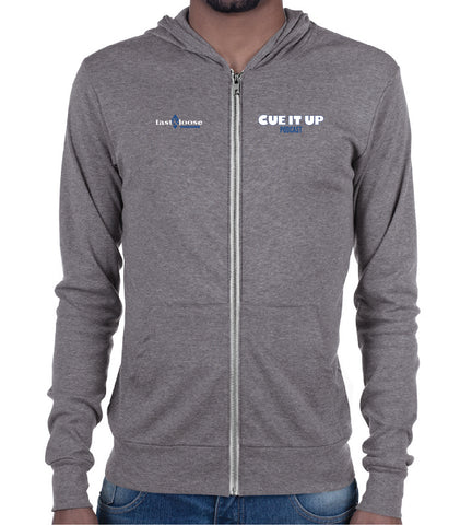 CUE IT UP (Zip Hoodie) - Gray