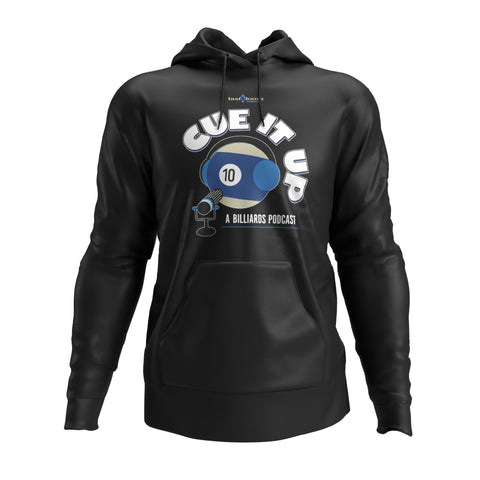 CUE IT UP (Hoodie) - Black