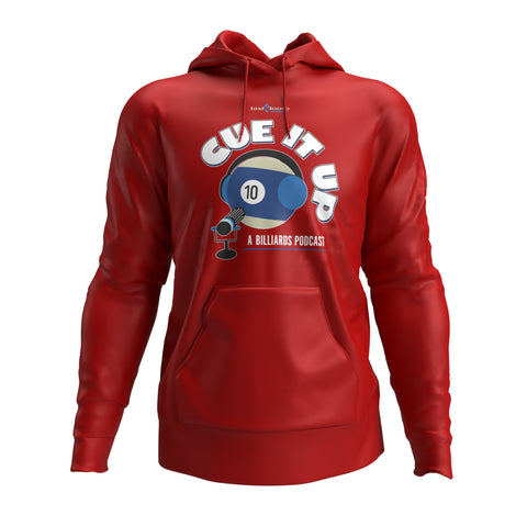 CUE IT UP (Hoodie) - Red