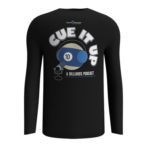 CUE IT UP (Long Sleeve) - Black