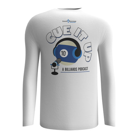 CUE IT UP (Long Sleeve) - White
