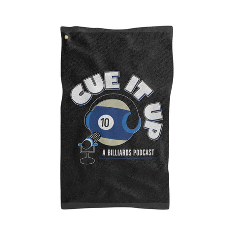 CUE IT UP (Sports Towel) - Black