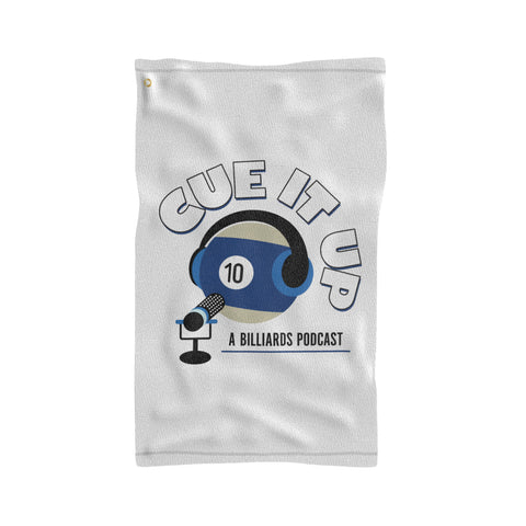 CUE IT UP (Sports Towel) - White