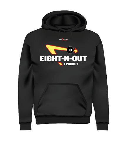 EIGHT-N-OUT (Hoodie) - Black