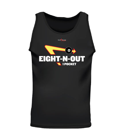 EIGHT-N-OUT (Men's Tank) - Black