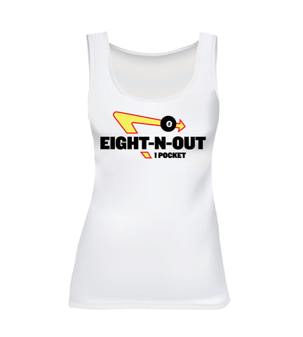 EIGHT-N-OUT (Women's Tank) - White