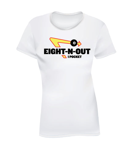 EIGHT-N-OUT (Women's Tee) - White