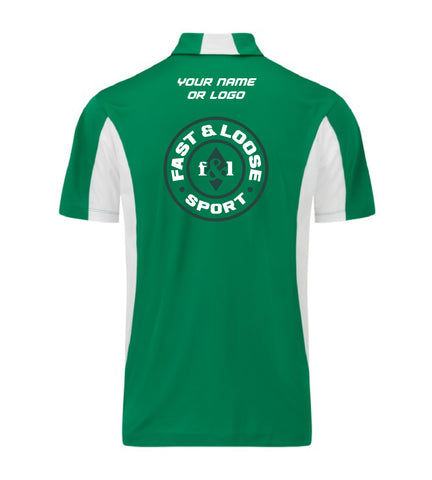 fast&loose SPORT (Side Blocked Polo) - Green / White Version 2